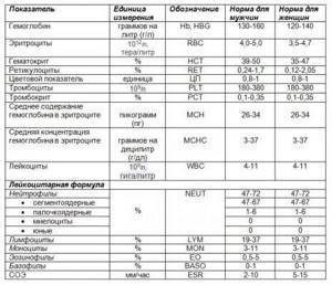 Норма биохимического анализа крови у женщин: таблица, показатели